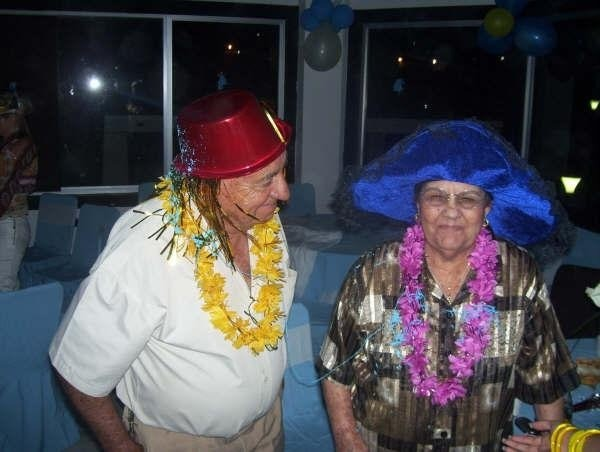 my grandfather and grandmother smiling